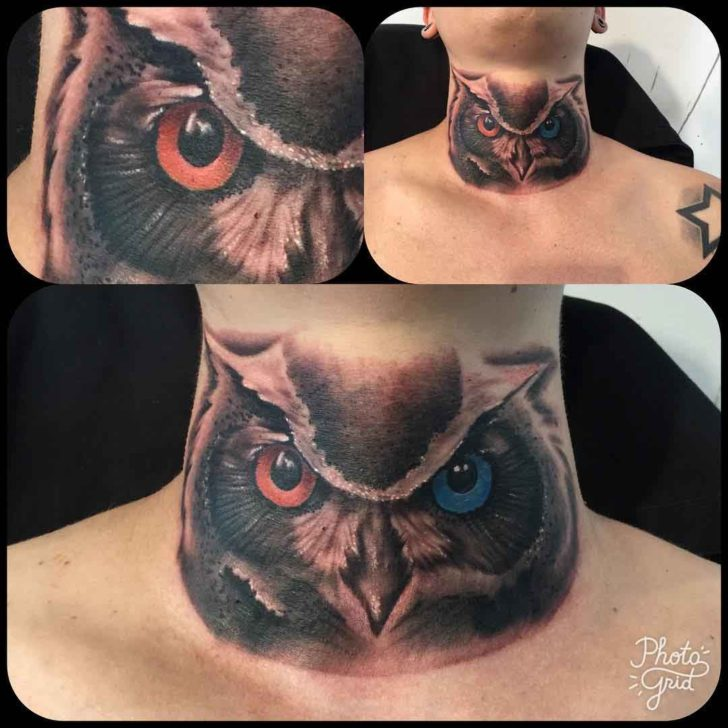neco owl tattoo