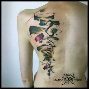 Sectumsempra Tattoo on Back
