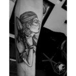 Sketchy Female Warrior Tattoo
