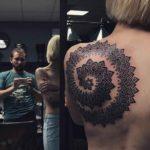 Spiral Mandala Tattoo