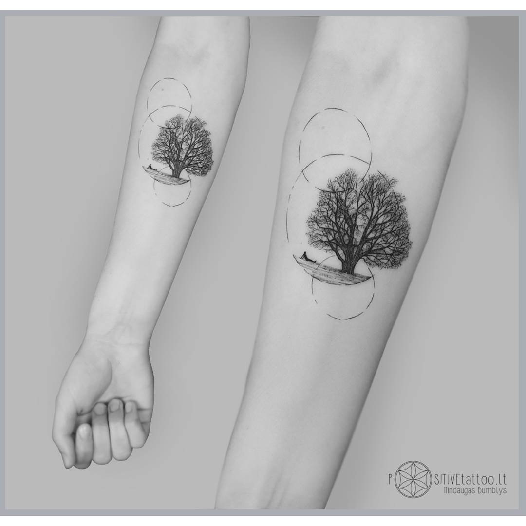 arm tattoo tree of solitude