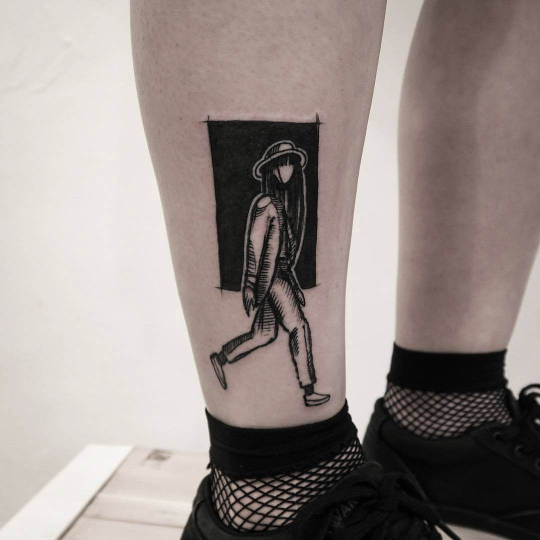 ankle tattoo wondering soul