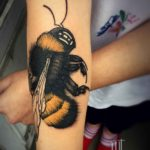 Big Bumblebee Tattoo on Arm