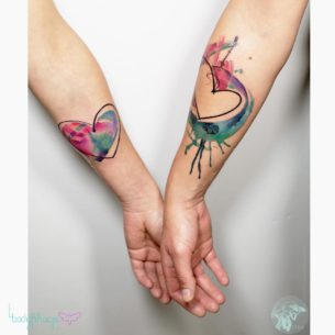 Couple Heart Tattoos