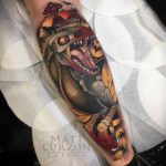 Dinosaur Tattoo Neo-Traditional Style