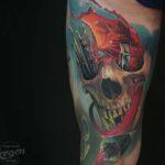 Painter Skull Tattoo