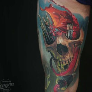 Painter Skull Tattoo
