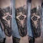 Ram Skull Tattoo on Arm