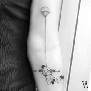 Skydiver Tattoo
