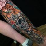Violent Tattoo Skull in Tiger