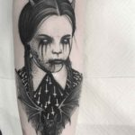 Wednesday Addams Tattoo