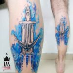 Anchor Space Ship Tattoo