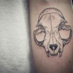 Arm Tattoo Cat Skull