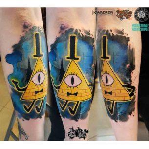 Bill Cipher Tattoo