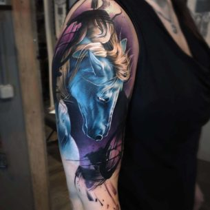 Blue Horse Tattoo