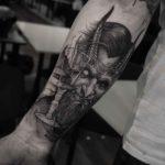 Demon Cheers Tattoo