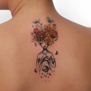 Flowers Girl Tattoo