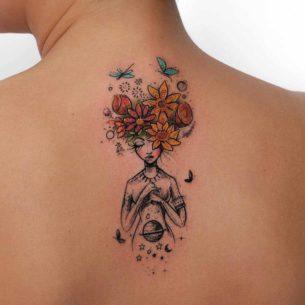 Flowers Girl Tattoo