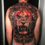 Full Back Lion Tattoo