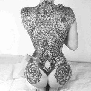 Girl Back Tattoos