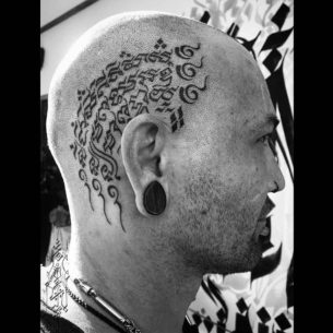Hindu Head Tattoo