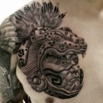 Jaguar Warrior Tattoo on Chest
