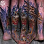 Lantern Owl Tattoo