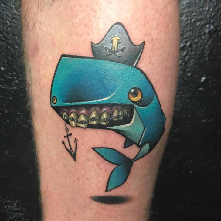 cute Moby Dick tattoo