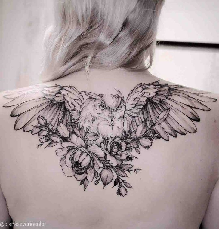 owl tattoos with flowers best tattoo ideas gallery. Black Bedroom Furniture Sets. Home Design Ideas
