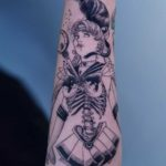 Sailor Moon Tattoo Skeleton