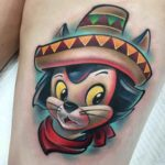 Sombrero Cat Tattoo