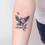 Small Cute Owl Tattoo on Arm