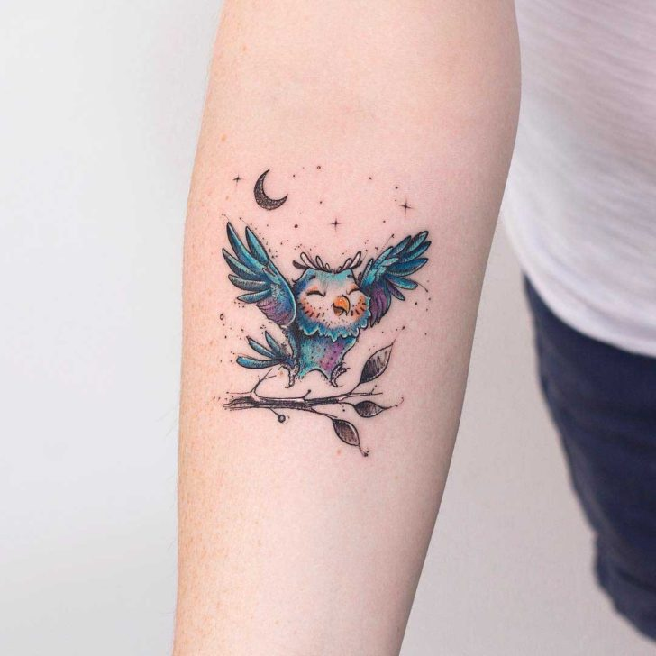 Small cute owl tattoo on arm best tattoo ideas gallery for Small cute tattoo