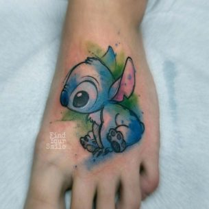 Stitch Tattoo on Foot