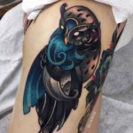 Wave Owl Tattoo
