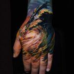 Wave Tattoo on Hand