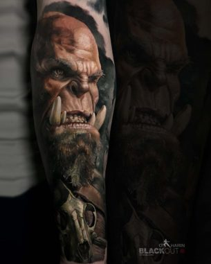 World of Warcraft Tattoo Orc