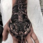 3D Snake Tattoo on Hand