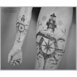 Anchor Steering Wheel Tattoo
