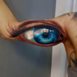 Big Blue Eye Tattoo