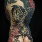 Big Owl Tattoo on Back