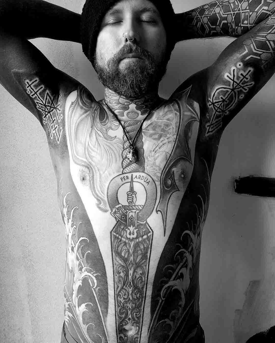 runic tattoos on armpits