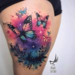 Butterflies Tattoo on Thigh