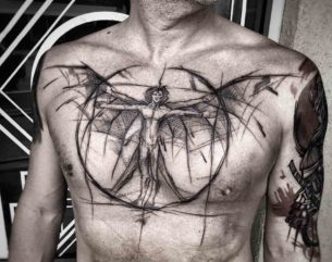 Chest Tattoo Angel Man