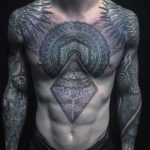 Complex Ornament Tattoo on Chest