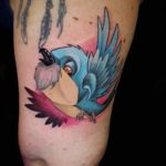 Cute Little Blue Bird Tattoo