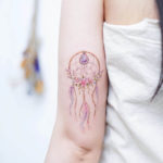 Floral Dreamcatcher Tattoo