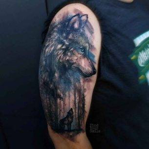 Forest Woolf Tattoo on Shoulder