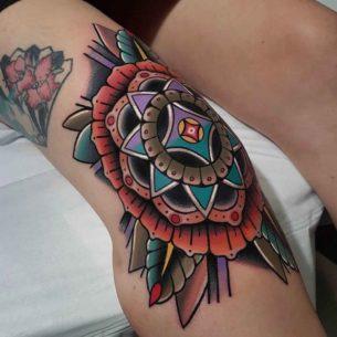 Knee Tattoo Designs