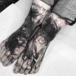 Matching Tattoos on Feet